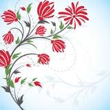 Van achtergrond bloemen vector Royalty-vrije Stock Afbeeldingen