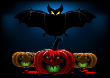 Van achtergrond Halloween knuppel Royalty-vrije Stock Foto
