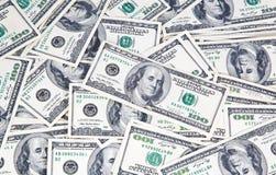 Van achtergrond honderd dollarsbankbiljetten close-up Royalty-vrije Stock Afbeelding