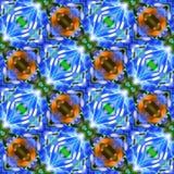 Van Achtergrond ikat Gewaagde Dots Seamless Pattern Abstract Geometric Stoffendruk het Verpakken Document Neon Groene Zwarte Brui stock illustratie