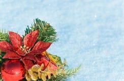 Van achtergrond Kerstmis decoratie Royalty-vrije Stock Foto
