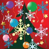 Van achtergrond Kerstmis illustratie Stock Fotografie