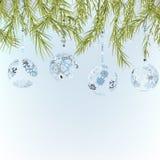 Van achtergrond Kerstmis malplaatje. + EPS8 Royalty-vrije Stock Fotografie