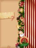Van achtergrond Kerstmis pieken en oud document Stock Foto's