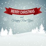 Van achtergrond Kerstmissneeuwvlokken Vector Royalty-vrije Stock Foto