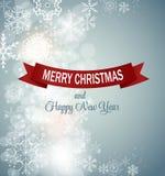 Van achtergrond Kerstmissneeuwvlokken Vector Stock Foto