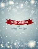 Van achtergrond Kerstmissneeuwvlokken Vector Royalty-vrije Stock Foto's