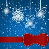 Van achtergrond Kerstmissneeuwvlokken Vector Stock Afbeelding
