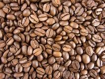 Van achtergrond koffiebonen mening van hierboven Stock Foto's