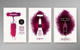 Van achtergrond ontwerpmalplaatjes wijnvlekken stock illustratie