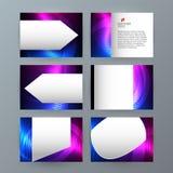 Van achtergrond Power Point van het presentatiemalplaatje dageraad boreaal neon e royalty-vrije illustratie