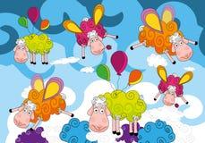 Van achtergrond schapen ontwerp Stock Fotografie