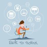 Van achtergrond schooljongensit school desk abstract education Concept Royalty-vrije Stock Afbeeldingen