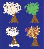Van achtergrond vier Seizoenenbomen Illustratie Royalty-vrije Illustratie