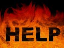 Van achtergrond vlammen whith hulp royalty-vrije illustratie