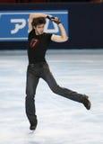 Van Alban PREAUBERT (FRA) het vrije schaatsen Stock Foto