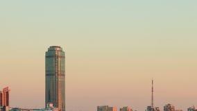 Van algemeen plan voor de wolkenkrabber. Rusland, Yekate stock videobeelden