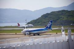 Van All Nippon Airways (ANA) het vliegtuig Stock Foto's
