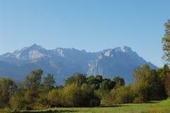 Van Alpspitze aan Zugspitze Royalty-vrije Stock Foto's