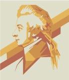 Van amadeusmozart van Wolfgang het vectorportret/eps Stock Afbeelding