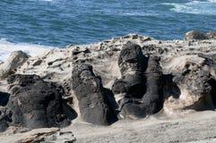 Van angst verstijfd Zand bij Coo Baai, Oregon Stock Foto's