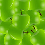 Van appelen zoete vectorillustratie als achtergrond Royalty-vrije Stock Foto's