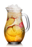 Van Apple spritzer (apfelschorle) de waterkruik stock foto