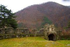 Van arheologydesocvery van de grafsteen ernstige de ruïnesmuur Royalty-vrije Stock Foto's