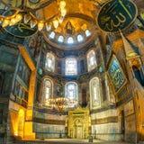 Van Aya Sofya (Hagia Sophia) de interne mening Royalty-vrije Stock Afbeeldingen