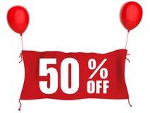 50% van banner Royalty-vrije Stock Foto's