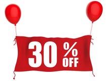 30% van banner Stock Afbeelding