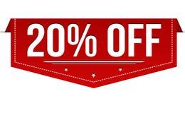 20% van bannerontwerp stock illustratie