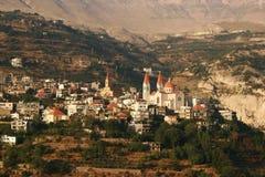 Van Bechare (Bchare) het dorp Giban Khalil Libanon royalty-vrije stock afbeelding