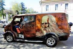 Van Bedford 1980 painted on the theme of Leonardo da Vinci Royalty Free Stock Photo