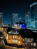 Van bedrijfs Azië concept voor onroerende goederen en collectieve bouw - het panoramische stedelijke satellietbeeld van de stadsh royalty-vrije stock afbeelding