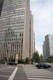 Van bedrijfs Azië Peking veel-storied het Centrale District, China, moderne architectuur, stad gebouwen Stock Afbeeldingen