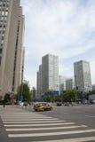Van bedrijfs Azië Peking veel-storied het Centrale District, China, moderne architectuur, stad gebouwen Stock Foto