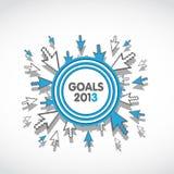 Van bedrijfs doelstellingen 2013 doelconcept royalty-vrije illustratie
