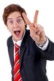 Van Bedrijfs gesturing mens Stock Foto