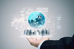 Van bedrijfs Internet concept Stock Fotografie