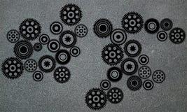 Van bedrijfs radertjestoestellen Industri?le Achtergrond E r Vector illustratie vector illustratie