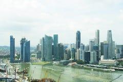 Van bedrijfs Singapore centrale districtshorizon Royalty-vrije Stock Afbeelding