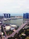 Van bedrijfs Singapore centrale districtshorizon Stock Foto
