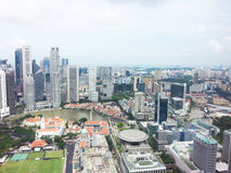 Van bedrijfs Singapore centrale districtshorizon Stock Fotografie