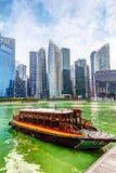 Van bedrijfs Singapore District op Marina Bay Stock Foto