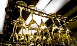 Van bedrijfs wijnglazen restaurant Stock Afbeeldingen
