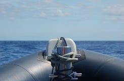 Van binnenuit de rubberboot Royalty-vrije Stock Afbeeldingen