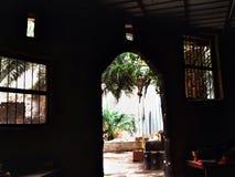 Van binnenuit een huis in Al Hasa Stock Afbeelding