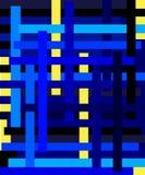 Van blauwe en gele strepen horizontaal en verticaal vector illustratie