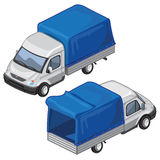 Van with blue tent for transport of goods. Vector Royalty Free Stock Images